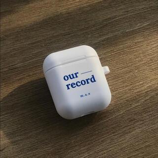 Apple - 韓国 雑貨 AirPodsケース(ホワイト)