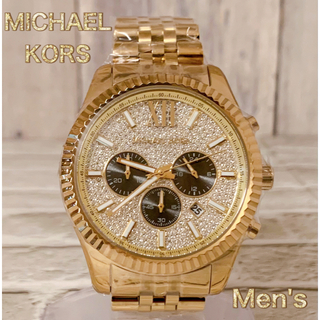 マイケルコース(Michael Kors)の☆新品☆ マイケルコース 腕時計 ゴールドトーン クロノグラフ メンズ(腕時計(アナログ))