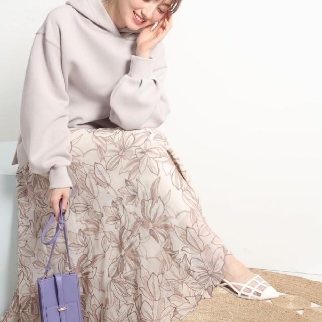 Apuweiser-riche(アプワイザーリッシェ)のアプワイザーリッシェ エアリー刺繍ロングスカート レディースのスカート(ひざ丈スカート)の商品写真