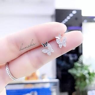 ヨンドシー(4℃)のmicro pave butterflies pierce ◯s925 post(ピアス)