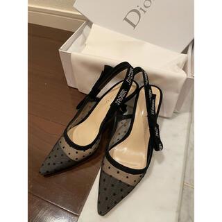 クリスチャンディオール(Christian Dior)のクリスチャンディオール dior ドットパンプス ヒール ストラップパンプス(ハイヒール/パンプス)