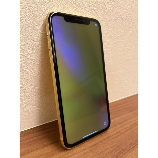 Apple(アップル)のiPhone XR 64GB イエロー スマホ/家電/カメラのスマートフォン/携帯電話(スマートフォン本体)の商品写真