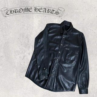 Chrome Hearts - Chrome Hearts クロムハーツ レザーシャツ フレアニー ジャケット