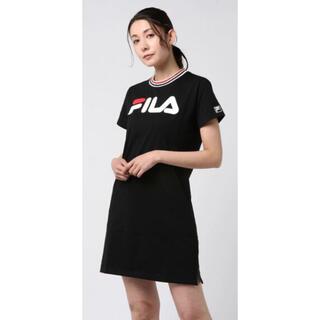 フィラ(FILA)の美品 FILA 半袖Tシャツワンピース(ひざ丈ワンピース)