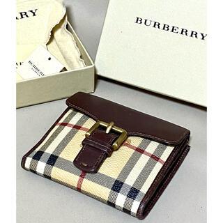 BURBERRY - ✴︎Burberry LONDON✴︎イタリー製バーバリー 二つ折りウォレット