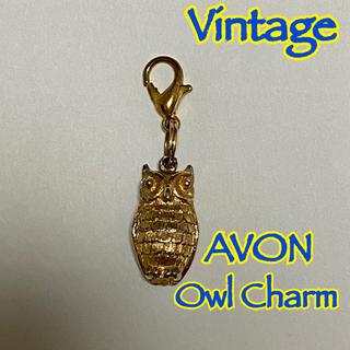 AVON - 【Vintage】 AVON エイボン フクロウ チャーム ゴールド 1970s