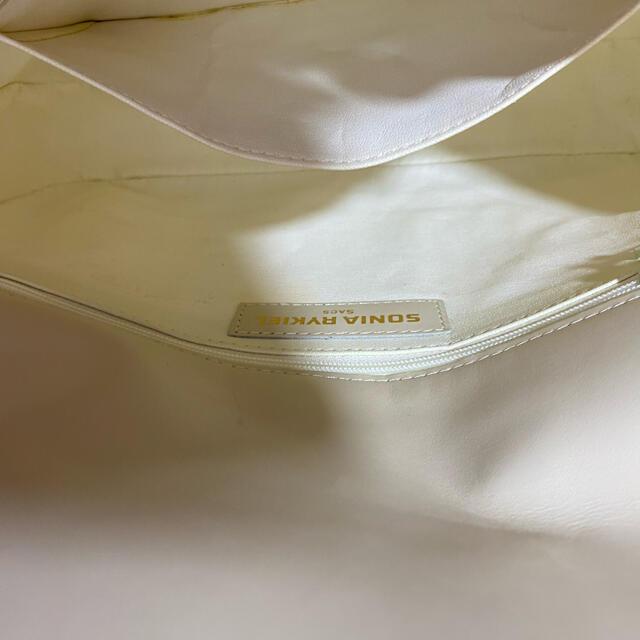 Lochie(ロキエ)のソニアリキエル スクエアバッグ ホワイト レトロヴィンテージ 昭和レトロ レディースのバッグ(ショルダーバッグ)の商品写真