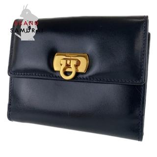 サルヴァトーレフェラガモ(Salvatore Ferragamo)のサルヴァトーレフェラガモ ガンチーニ 折財布 二つ折り財布 104934(財布)