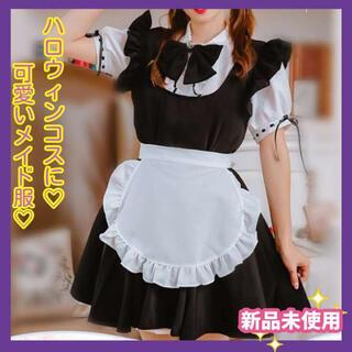 【新品未使用】☆ハロウィン☆ コスプレ メイド服 ワンピース Mサイズ(衣装一式)