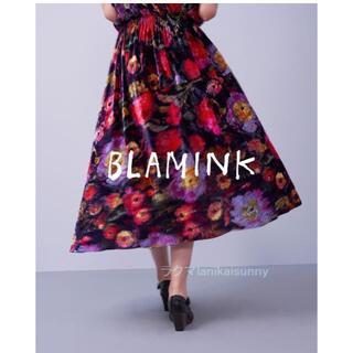 Drawer - BLAMINKブラミンク フラワープリントワンピース 18AW