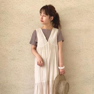カスタネ(Kastane)のkastane パターンワンショルT(Tシャツ(半袖/袖なし))