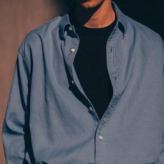 COMOLI - A.PRESSE (アプレッセ) ボタンダウンシャツ サイズ3 SAX