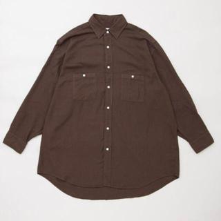 HERILL 21AW コットンカシミヤワークシャツ 2