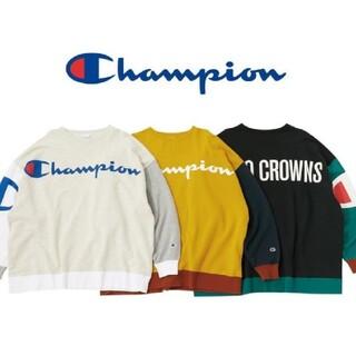 ロデオクラウンズワイドボウル(RODEO CROWNS WIDE BOWL)の新品ブラック チャンピオン最新コラボレーション(トレーナー/スウェット)
