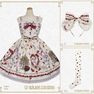 BABY,THE STARS SHINE BRIGHT - BABY TRUMP ALICE柄 生成り JSK KC ソックス セット