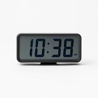 ムジルシリョウヒン(MUJI (無印良品))のMUJI 無印良品 アラーム機能付き デジタル置時計(中 )ブラック (置時計)