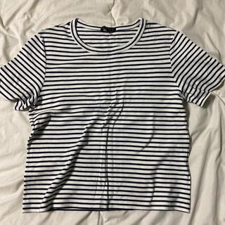 セオリー(theory)のセオリー ボーダー Tシャツ カットソー Sサイズ  細ボーダー(Tシャツ(半袖/袖なし))