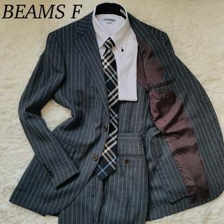 ビームス(BEAMS)のビームスエフ シングル セットアップスーツ 段返り 3ボタン グレー Mサイズ(セットアップ)