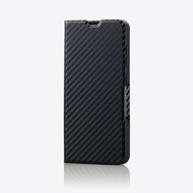 ELECOM(エレコム)のGalaxy A21 用薄型 ソフトレザーケース カーボン調 スマホ/家電/カメラのスマホアクセサリー(Androidケース)の商品写真