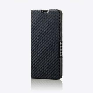 ELECOM - Galaxy A21 用薄型 ソフトレザーケース カーボン調