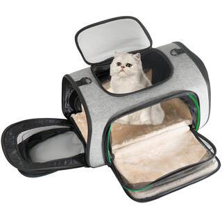 ペットキャリー 犬 猫 キャリーバッグ キャリー・カート 拡張可能 通気性(その他)