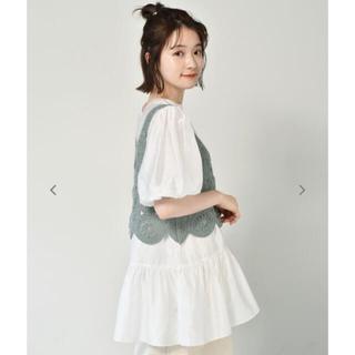 レトロガール(RETRO GIRL)のニットビスチェ+ブラウス トレンドセット♡新品(シャツ/ブラウス(長袖/七分))