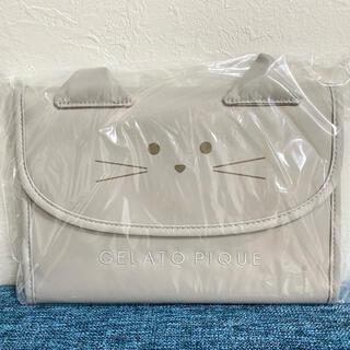 ジェラートピケ(gelato pique)のジェラートピケ  CAT母子手帳ケース Mサイズ ライトグレー(母子手帳ケース)