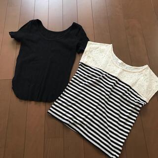 ヴィス(ViS)のエストネーション ヴィス Tシャツ カットソー 2枚セット まとめ売り(Tシャツ(半袖/袖なし))