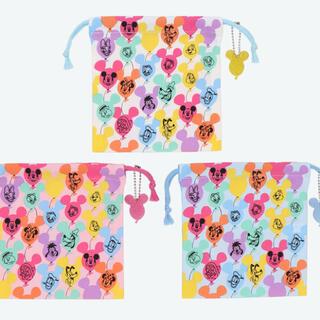 Disney - ディズニー バルーン 巾着 セット