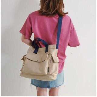 ポータブルキャンバスバッグ ショルダーバッグ 耐摩耗性ファッション 帆布 トート(ショルダーバッグ)