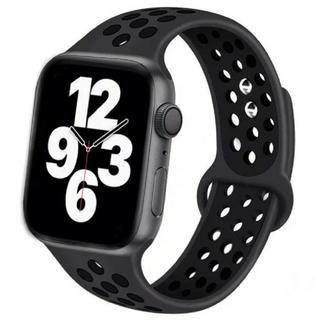 Apple Watch スポーツ バンド 42/44mm ブラック/ブラック(ラバーベルト)