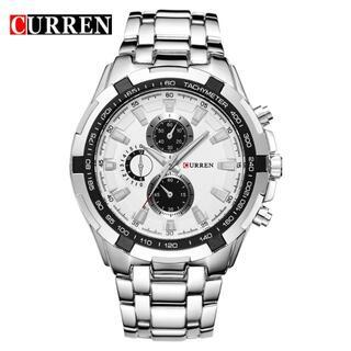新品!高級感漂うメンズ腕時計(白)(電池も新品)#9-25a(腕時計(アナログ))