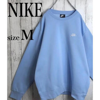 NIKE - 【完売品】ナイキ スウェット スウッシュ 刺繍ワンポイントロゴ ブルー