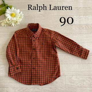 ラルフローレン(Ralph Lauren)のラルフローレン シャツ 90 綿100% かっこいい 秋 冬 長袖(Tシャツ/カットソー)