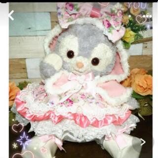 ステラルー(ステラ・ルー)のステラルー  S ピンク花柄6点コスチューム ボア付きケープ クッキーアンにも(ぬいぐるみ)