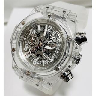 日本未発売KIMSDUN ラバーベルト スケルトンウォッチ メンズ 腕時計(腕時計(アナログ))