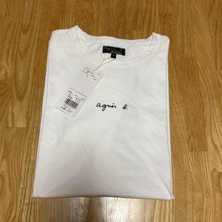 agnes b. - 値下げ アニエスベー 半袖Tシャツ 小ロゴ Lサイズ
