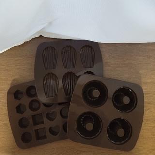 ムジルシリョウヒン(MUJI (無印良品))の【最終値下げです】無印良品   シリコンモールド   3種類(調理道具/製菓道具)