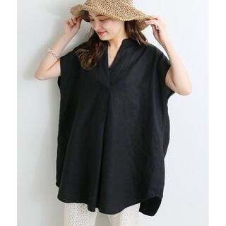 IENA - 美品⭐️ IENA リネンノースリーブスキッパーシャツ