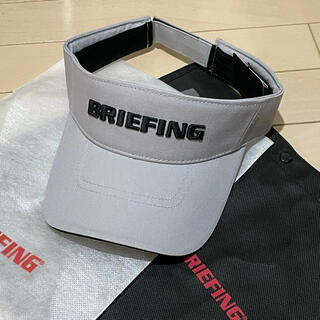 BRIEFING - 新品未使用BRIEFINGブリーフィングメンズサンバイザーグレー