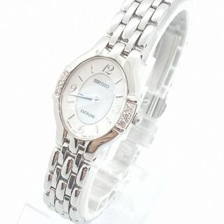 SEIKO - SEIKO セイコー エクセリーヌ ダイヤ レディース 腕時計 シェル シルバー