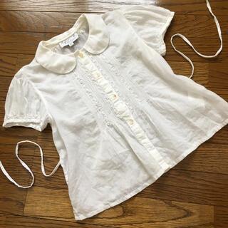 アニエスベー(agnes b.)の(6ans/110㎝)■アニエスベー■白半袖ブラウス(Tシャツ/カットソー)