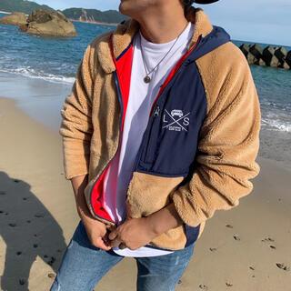 スタンダードカリフォルニア(STANDARD CALIFORNIA)の西海岸系 LUSSO SURF フリースジャケット Sサイズ RVCA(ブルゾン)