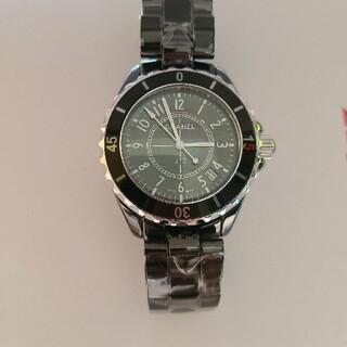 新品未使用 メンズ 黒 腕時計