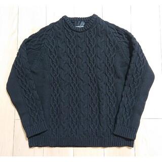 ナンバーナイン(NUMBER (N)INE)のLL 良品 NUMBER NINE エアリースポンディッシュニット ブラック(ニット/セーター)