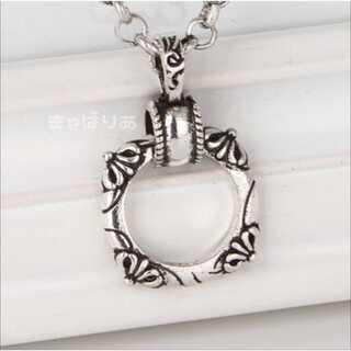 高級感 クロスリングネックレス シンプルデザイン 指輪
