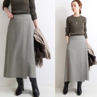 IENA - 2020AW ビエラトラペーズラップスカート