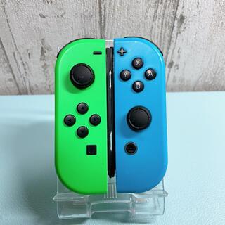 Nintendo Switch - 準美品 人気カラー ブルー グリーンSwitch 左右セット ジョイコン