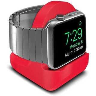 【A06】Apple Watch充電スタンド/クレードル ドック(赤)(その他)