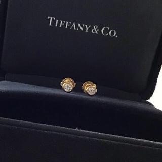 Tiffany & Co. - ティファニー 一粒ダイヤ スタッド ピアス バイザヤード 0.08ct×2 ペア